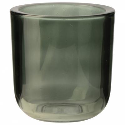 Gla-Teelichthalter Ø9x95cm grün