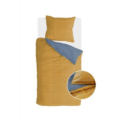 Bettbezug Vier-Quadrat-Honig-Senf - 140x220 cm