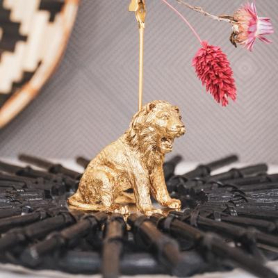 Leeuw Kaartenhouder-4x12x6 cm-Goud