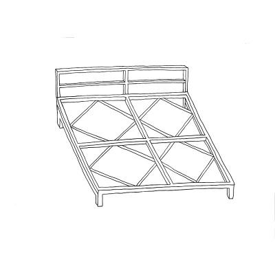 Metalen Frame Loungekussens Zwart 80x80 cm met Rugleuning