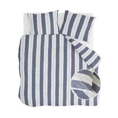 Dekbedovertrek Remade Nautic Stripes Donker Blauw - 200x220 cm