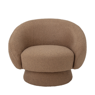 Ted lounge stoel bruin polyester