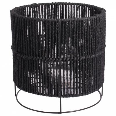 Lantaarn touw ø22x22cm zwart