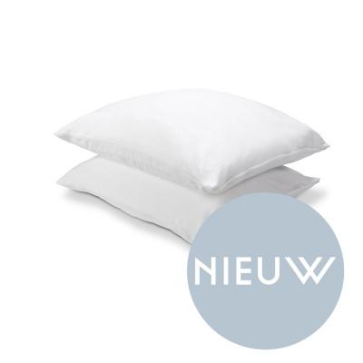 Molton Kussensloop Cotton Cover Wit - 60x70 cm