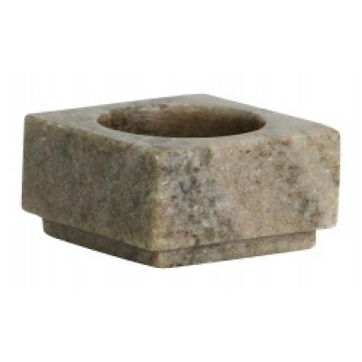 HAIDA Waxinelichthouder zand marmer