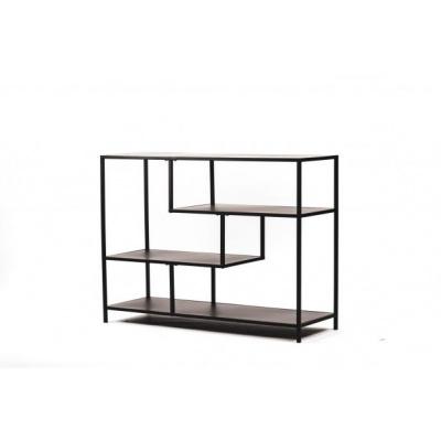 Metalen Dressoir-Zwart-100x35x75cm