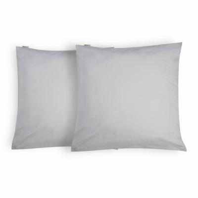 Kussensloop Crispy Cotton Grijs - 2x 80x80 cm