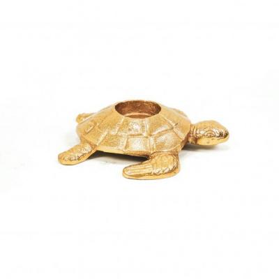 Schildpad Kandelaar- Goud - 13x14x3cm