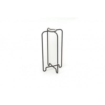 Zwart Metalen Vaasje - 11x21cm