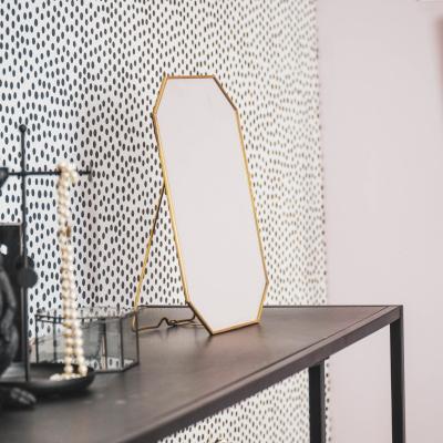 Spiegel Achthoekig Goud -30x20x1cm