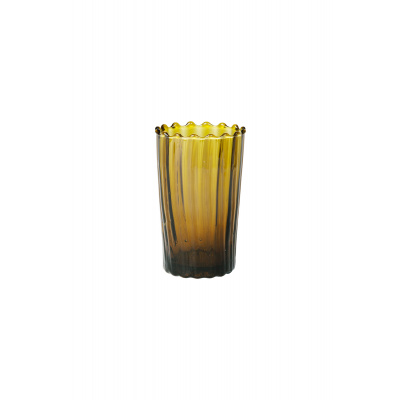 Marokkaans Glas Golvend L Mosterd