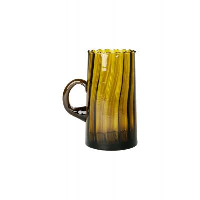 Karaf Gerecylced Glas met Oor Mosterd