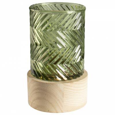 Glas-LED-Vase mit Halterung