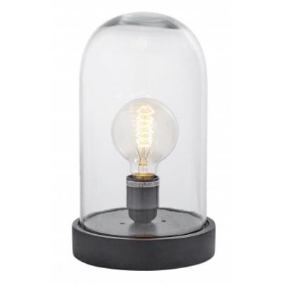 Dome Lamp, Houten Voet, Klein, Zwart