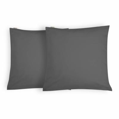 Kussensloop Crispy Cotton Antraciet - 2x 80x80 cm