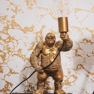 Staande Gorilla Lamp - Goud