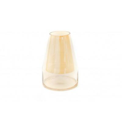 Shiny Amber Vaas-Piramide - 13,5x20cm