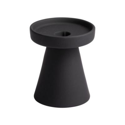 Kaarshouder ø10.2x12cm zwart