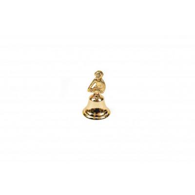 Butler Bel - Aap - goud- 6x6x10cm