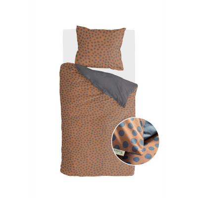 Dekbedovertrek Spots & Dots Cognac - 140x220 cm