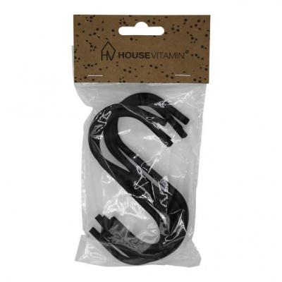 6 Storage S Hangers Black 11x6x1