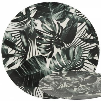 Bodenschild Ø33cm Palmblätter