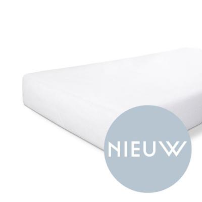 Molton Baumwolldeckel weiß - 90x220 cm