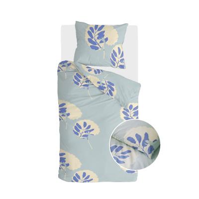 Dekbedovertrek Remade Romantic Leaves Blauw - 140x220 cm