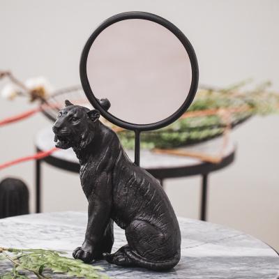 Tiger Mirror-Black-4x17x25cm
