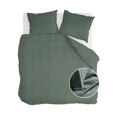 Dekbedovertrek Vintage Cotton Donker Groen - 240x220 cm