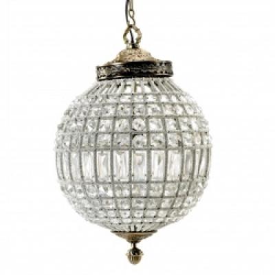 Kristallen Lamp, Glazen Kralen, Medium