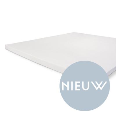 Einbaublech knusprig Baumwolle topper weiß - 160x200 cm