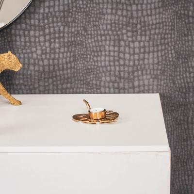Ginkgo Waxinelichthouder-Goud-16x12x4