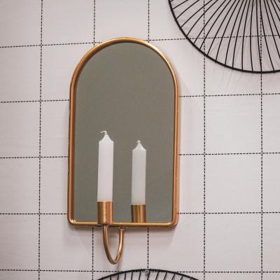Kaarshouder met spiegel-Ovaal-Gold