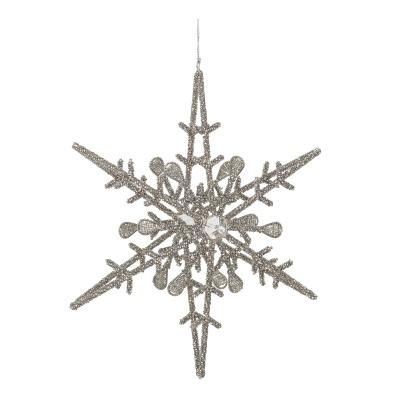 Moon Ornament Silver Glass