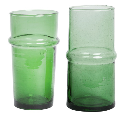 Vase Recyclingglas 20cm grün xl