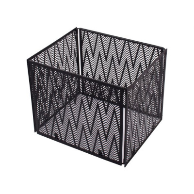 Vouwmand metaal 26.5x32.5cm zwart