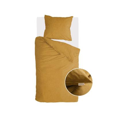 Dekbedovertrek Vintage Cotton Honing Mosterd - 155x220 cm