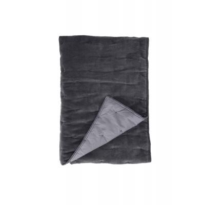 Plaid Velvet Touch Antraciet - 130x180 cm