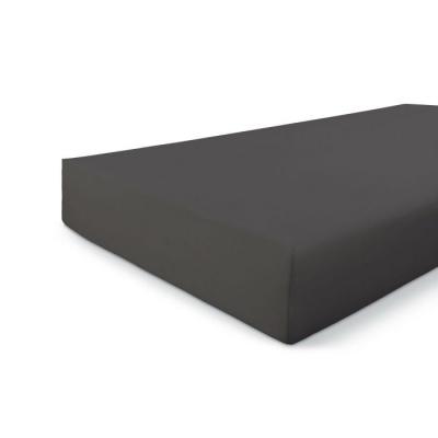 Hoeslaken Jersey Stretch Antraciet - 180x220 cm