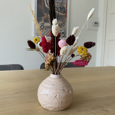 Kleine Vaas met Droogbloemen