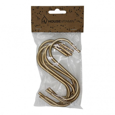 6 Storage S Hangers Gold 11x6x1