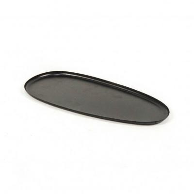 Ovale Dienblad - Zwart - 41x19x1cm