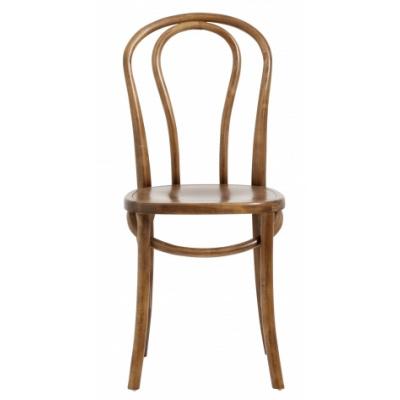 Bistro-Stuhl braunes Holz