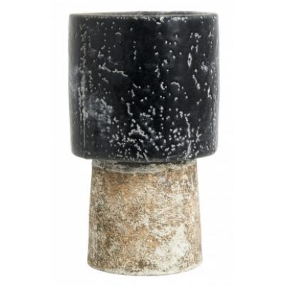 Reso Lang Pot, M, Zwart / Wit