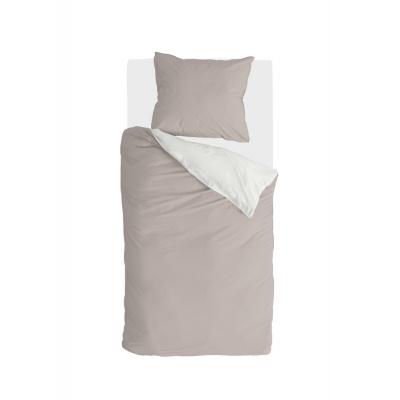Bettbezug Seitensandsand / weiß - 140x220 cm