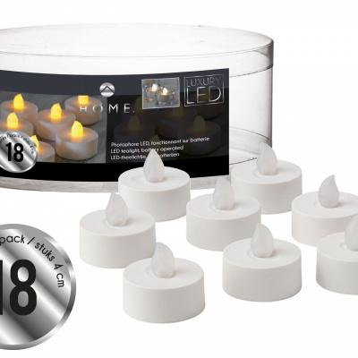 LED Teelichter Ø38x5cm 18st. Weiß