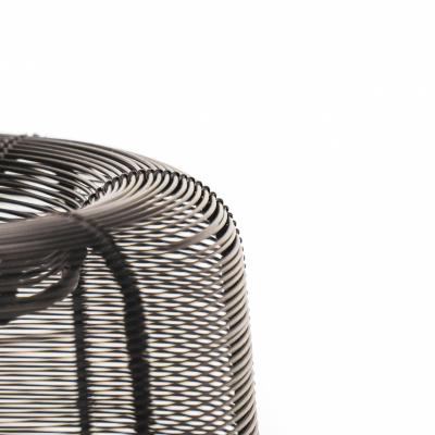 Metallwindleuchte - schwarz 24 cm