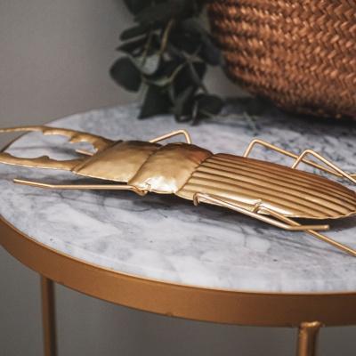Gouden Insectenbeeld-12x4x28 cm