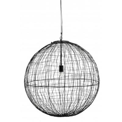 Selene Hanglamp, Zwart Ijzeren Bal L